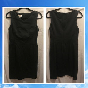 Size 6 Talbots Dress Black Career Wear Stretch